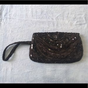 Accessorize black beaded purse